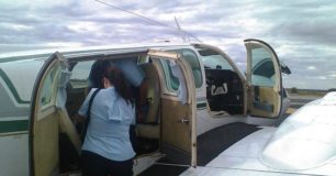 Photo of boarding an air charter