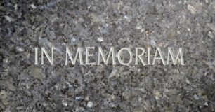 Image of engraved headstone 'In Memoriam'
