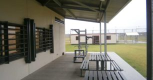 Image of the outdoor undercover area at Hakea Juvenile Facility