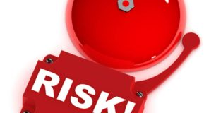 "Image of a fire alarm with ""RISK!"""