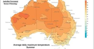 Australian Summer maximum temperatures