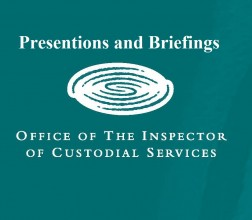 Presentation and Briefings on a green background