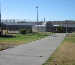 Internal pathway and internal demarcation fence, inside the grounds of Albany Regional Prison