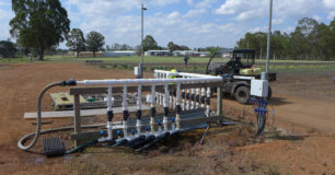 Image of irrigation system for market gardens at Pardelup Prison Farm