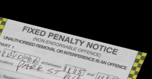 Image of a fixed penalty notice