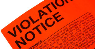 Image of a red violation notice