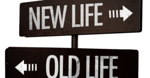 Image of New Life and Old life sign post