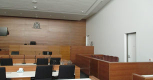 Image of the dock and courtroom in Carnarvon