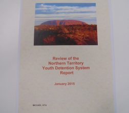 Image of front cover of Review of the Northern Territory Youth Dentention System Report