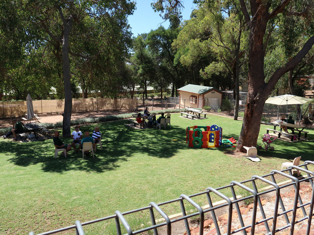 Image of the Visits Centre garden at Wooroloo