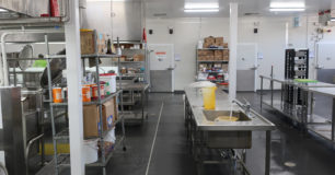 Image of an industrial kitchen at Acacia Prison