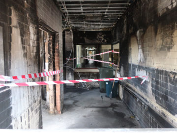 Image of fire damaged Office in Unit 3