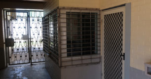 Image of outside an Office in Unit 2 with Reinforced Grille
