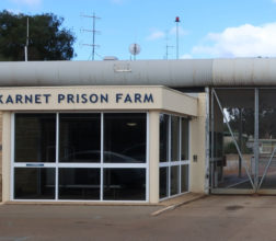 Image of the front entrance gate at Karnet Prison Farm