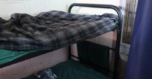Image of tubular bunks in women's cell at Roebourne Regional Prison