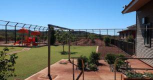 Image of visits lawn & fruit plantation at Work Camp