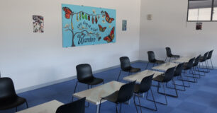 "Image of ""one day at a time"" quote at the visits centre in Wandoo"