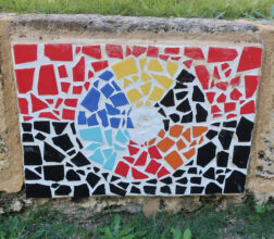 Image of a mosaic mural on a wall at Bandyup Women's Prison