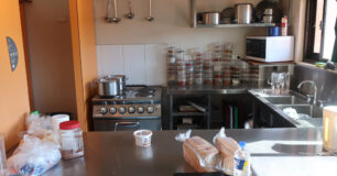 Image of the kitchen in the self-care unit at West Kimberley Regional Prison